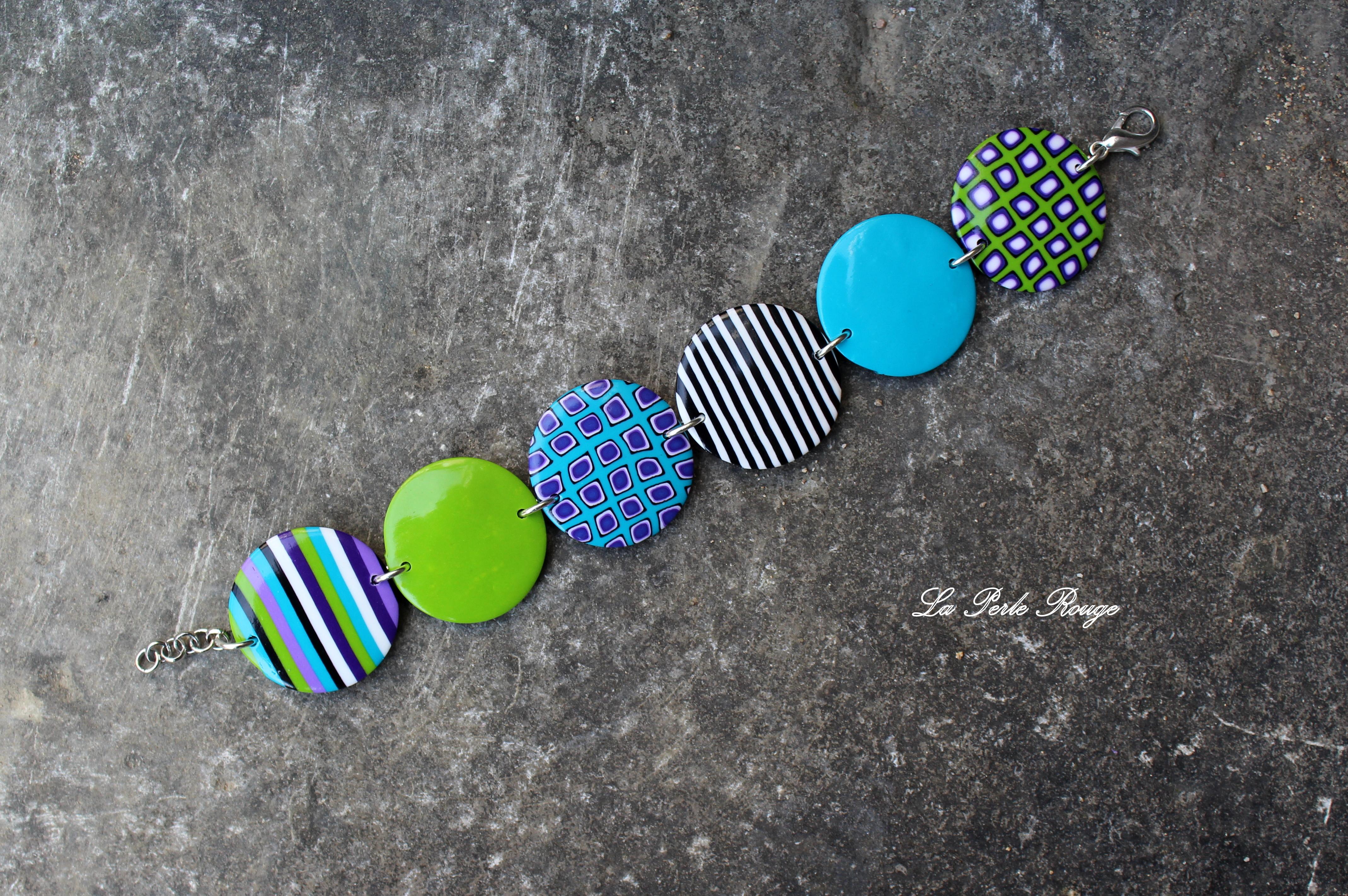 Bracelet pastilles larges